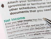 Net income form and pen T1 tax form taxes