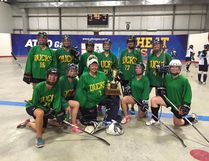 Tara Swanson, front row second from right, plays Tier 1 ball hockey with the Ducks. She will don a Team Canada jersey at the end of May at the ISBHF world ball hockey championships in the Czech Republic. (Supplied photo)