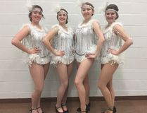 Senior STAGES The Drowsy Chaperone opens May 26. From left Kassidy Davies, Mackenzie Aubin, Megan Herman, Willow Steele. (Submitted photo)