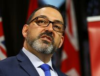 Liberal Energy Minister Glenn Thibeault outlines the Ontario Fair Hydro Plan at Queen's Park in Toronto, Ont. on Thursday, May 11, 2017. (DAVE ABEL/TORONTO SUN)