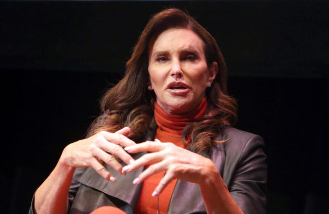 """Caitlyn Jenner discusses her new book """"The Secrets of My Life"""" at the Los Angeles Times Ideas Exchange, May 3, 2017. (FayesVision/<A HREF=""""http://www.wenn.com"""" TARGET=""""newwindow"""">WENN.COM</a>)"""