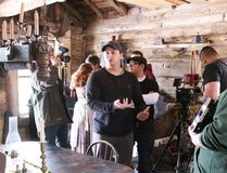 Sarnia-based director Aaron Huggett is pictured here on the set of his new Black Donnellys film. Tickets for five southwestern Ontario screenings of the biopic will go on sale May 23. (Barbara Simpson/Sarnia Observer)