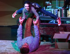 Zoe Brown plays young Allison Bechdel while Duane Woods plays her father Bruce Bechdel in Fun Home. (MORRIS LAMONT, The London Free Press)