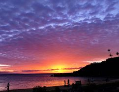 Sunsets on Ka'anapali Beach are some of the best in the world. JIM BYERS PHOTO