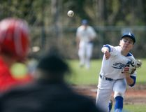 Logan Clow/Daily Herald-Tribune Dawson Kokesch, of the Northern Lights Midget AAA Baseball Academy, delivers a pitch against the East Central Bulls in game one of their double-header on Sunday at Evergreen Park, south of Grande Prairie. The Lights won both games 6-0 and 9-1.