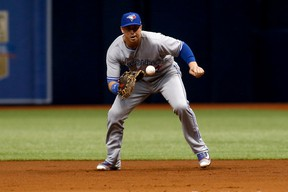 Blue Jays' Justin Smoak started in the majors in 2010. He's a .223 career hitter in the big leagues.