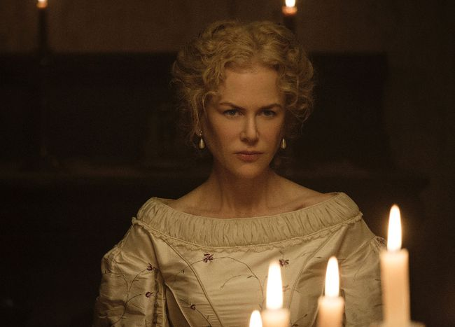 "This image released by Focus Features shows Nicole Kidman in a scene from ""The Beguiled."" The film, directed by Sofia Coppola and opens June 23, will be shown at the 70th Cannes Film Festival. (Ben Rothstein/Focus Features via AP)"