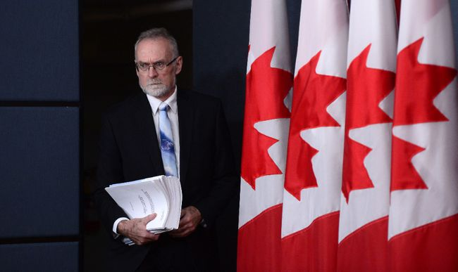 Auditor General of Canada Michael Ferguson holds a press conference at the National Press Theatre regarding the 2016 Fall Reports in Ottawa on Tuesday, Nov. 29, 2016. THE CANADIAN PRESS/Sean Kilpatrick
