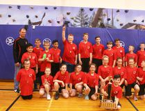 The Worsley Wildcats elementary basketball team(above) placed first, Menno Simons Panthers (not shown) placed second in the annual SlamJam Basketball Tournament hosted by E.E. Oliver Elementary School, after after the Wildcats won the gold-medal game 12-4.
