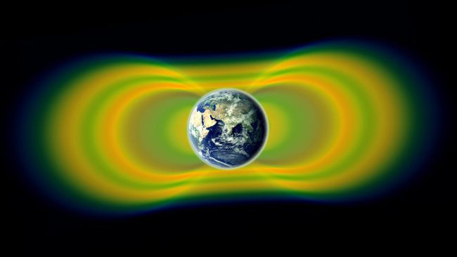 This artist rendering in 2013 provided by NASA shows the Van Allen radiation belts around Earth. Recently, scientists have discovered that there appears to be some force that is mysteriously pushing the belts away from the planet, writes columnist Tim Philp.