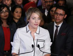 Patrick Doyle/The Canadian Press Minister of Canadian Heritage Melanie Joly makes an announcement about an anti-Islamophobia motion on Parliament Hill in Ottawa on Feb. 15.