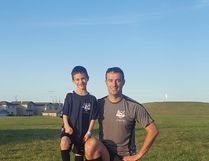 Mathieu Boute (right) is Leduc's Volunteer of the Month. Boute was honoured with the recognition for his work with the Leduc Soccer Association. Submitted