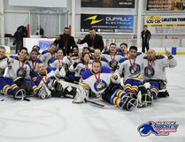 Team Alberta defended their title at the Canadian Sledge Hockey Championships hosted in Boucherville, Que. They went undefeated the entire weekend, beating the home team, Quebec, twice. Submitted by Ashton Selig