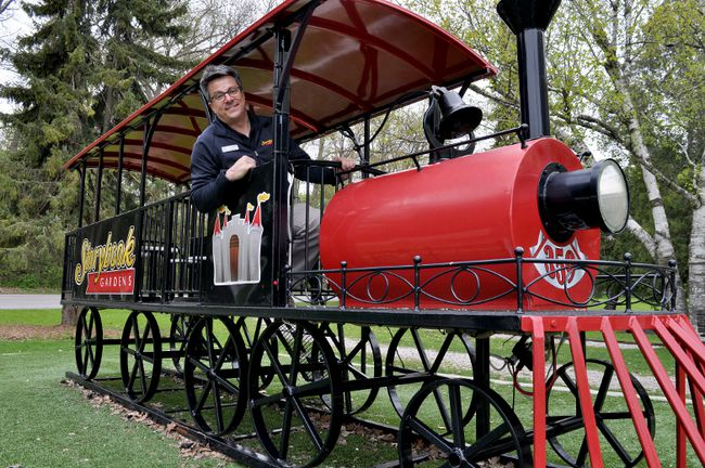 John Riddell, manager of Storybook Gardens, is preparing a full opening of the local attraction this weekend. CHRIS MONTANINI\LONDONER\POSTMEDIA NETWORK
