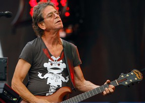 Lou Reed performs at the Lollapalooza music festival in Chicago on Aug. 9, 2009. (John Smierciak/AP Photo/Files)