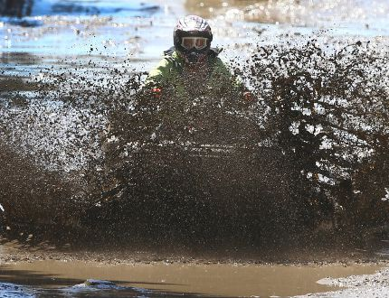OHV rider at McLean Creek