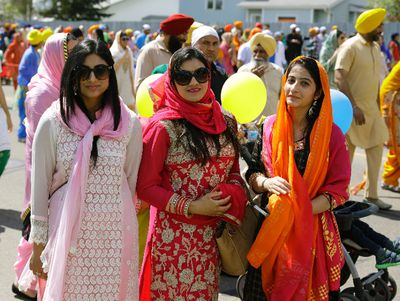 An estimated ten thousand people attended a parade and celebration of Vaisakhi Day in Edmonton's Millwoods community on Sunday May 21, 2017. Vaisakhi, a historical and religious festival in Sikhism and Hinduism, marks the Sikh and Hindu new year. (PHOTO BY LARRY WONG/POSTMEDIA)