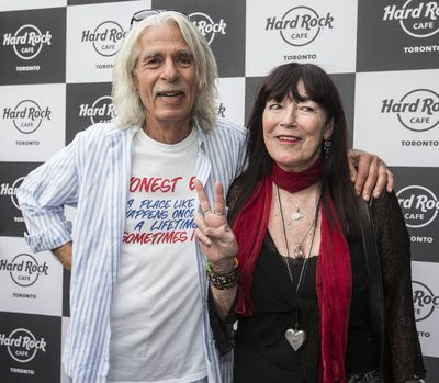 Mike Levine (L) from Triumph walks the red carpet at the Hard Rock Cafe on Wednesday May 17, 2017. Craig Robertson/Toronto Sun/Postmedia Network