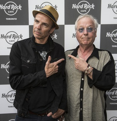 Andy Curran from Coney Hatch (L) and Greg Godovitz walk the red carpet at the Hard Rock Cafe on Wednesday May 17, 2017. Craig Robertson/Toronto Sun/Postmedia Network