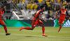 Toronto FC's Tosaint Ricketts celebrates his goal against the Columbus Crew during the second half of an MLS soccer match Wednesday, May 10, 2017, in Columbus, Ohio. Toronto won 2-1. (AP Photo/Jay LaPrete)