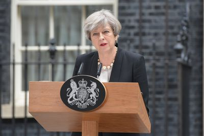 Prime Minister gives a press statement in Downing Street  after the terrorist attack  at the Manchester Arena  Featuring: Theresa May Where: London, United Kingdom When: 23 May 2017 Credit: Howard Jones/WENN.com ORG XMIT: wenn31561197