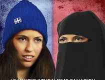 A controversial Quebec provincial byelection poster