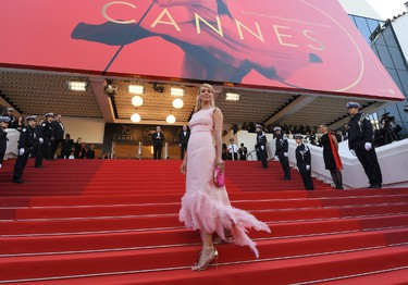 US actress and President of the Un Certain Regard jury Uma Thurman poses as she arrives on May 23, 2017 for the '70th Anniversary' ceremony of the Cannes Film Festival in Cannes, southern France.  / AFP PHOTO / Anne-Christine POUJOULATANNE-CHRISTINE POUJOULAT/AFP/Getty Images