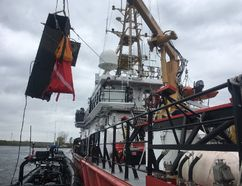 <p>A cash change machine gets hauled out of the St. Lawrence River, by the Canadian Coast Guard Ship Corporal Teather, during a recent river cleanup effort. </p><p> Handout/Cornwall Standard-Freeholder/Postmedia Network