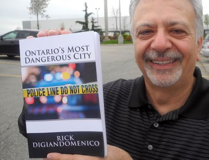 Retired Brantford police officer Rick DiGiandomenico is author of Ontario's Most Dangerous City. (Vincent Ball/The Expositor)