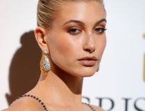 """Hailey Baldwin attends the DeGrisogono """"Love On The Rocks"""" during the 70th annual Cannes Film Festival at Hotel du Cap-Eden-Roc on May 23, 2017 in Cap d'Antibes, France. (Photo by Andreas Rentz/Getty Images)"""