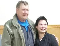 """Canadian Vietnam Veteran, Charles """"Charlie"""" Dowell recently met with Katie Nixon, who was rescued during the Vietnam War's 'Operation Babylift' in 1975. The pair exchanged stories at the Lucknow Coffee Break group on May 10, 2017."""
