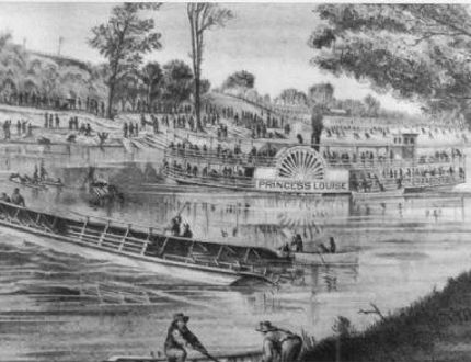 Holidayers packed the upper deck of the S.S. Victoria, which led to the boat capsizing and sinking in the Thames River in London May 24, 1881, as recounted in this drawing from the book Disaster Canada by Janet Looker.