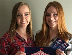 Sisters Kayla and Taryn Walker, left and right, are organizing a country video dance July 29 under the Railway City Big Top to raise money for St. Thomas-Elgin General Hospital, which saved Kayla's life as a youngster. (Contributed Photo)