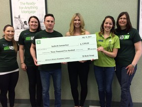 The TD Canada Trust in Seaforth recently donated $3,500 for the Seaforth Summerfest Carnival, which is expected to commence July 14. (Photo courtesy of Twitter)