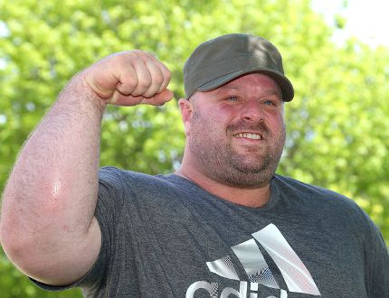 Kingston arm-wrestler Ian Carnegie will be competing at the World Armwrestling League championships in Las Vegas on June 29. (Ian MacAlpine/The Whig-Standard)
