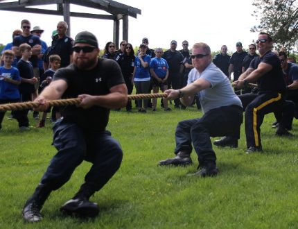 The Cornwall Police team during the tug-of-war on Saturday. Alan S. Hale/Cornwall Standard-Freeholder