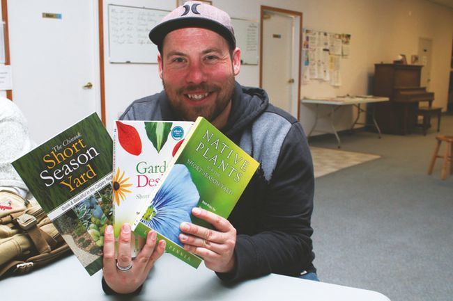 Lyndon Penner, who's penned several gardening books, stayed around to chat and sign books after giving a presentation at the Vulcan Senior Centre on May 24.