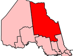 This map shows the current boundaries for the riding of Timmins-James Bay. The lines could be dramatically different after a commission studies adding one or two new ridings in Northern Ontario.