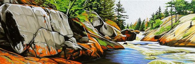 Secluded Rivers Edge by Margarethe Vanderpas featured in Viewpoints, an exhibition at Westland Gallery.