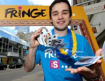 London magician Keith Brown will be performing again in this year's Fringe festival in London. (MIKE HENSEN, The London Free Press)