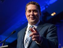 Andrew Scheer speaks after being elected the new leader of the federal Conservative party at the federal Conservative leadership convention in Toronto on Saturday, May 27, 2017. (Frank Gunn/The Canadian Press)