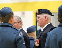 Bob Ellis of the Melfort Legion served as one of the ceremonial inspectors of the 171 Phoenix squadron during the Air Cadets annual Ceremonial Review at MUCC on Tuesday, May 23.