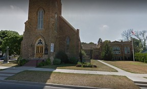 St. James Anglican Church in Ingersoll, Ontario (Google Maps)