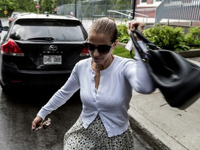 Convicted killer Karla Homolka arrives at Greaves Adventist Academy in N.D.G. May 31, 2017.  (Dave Sidaway / MONTREAL GAZETTE)
