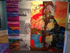 Students from five Lambton County high schools collaborated to re-imagine and re-create one of Tom Thomson's paintings for the annual Lambton County Student Art Show.  Submitted photo for Sarnia This Week