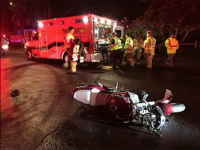 Ottawa paramedics treated a 52-year-old motorcyclist for traumatic multi-system injuries on Wednesday, May 31, 2017.