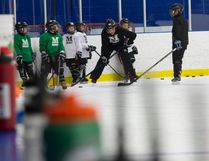 The 2009 Mountaineers practice at Frank Lacroix Arena in early May. Despite the warnings about the development problems in playing hockey almost year-round, McMurrayite parents and players alike are embracing it as a chance to stay competitive against other hockey associations in Western Canada. Robert Murray/Fort McMurray Today/Postmedia Network
