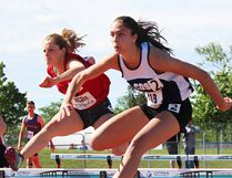 Day 2 competition at the 2017 OFSAA track and field championships Friday at MAS Park and Bruce Faulds Track started with sprint hurdle heats in all girls divisions. (Intelligencer photo)