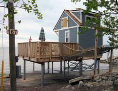 The Long Point Region Conservation Authority approved this surprisingly elaborate structure on Hastings Drive in Long Point as a dock project. The LPRCA and the owner have since had a disagreement over whether the structure requires a building permit. MONTE SONNENBERG / SIMCOE REFORMER