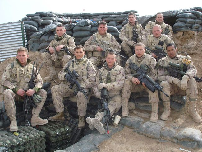 Lionel Desmond (front row, far right) was part of the 2nd battalion, of the Royal Canadian Regiment, based at CFB Gagetown and shown in this 2007 handout photo taken in Panjwai district in between patrol base Wilson and Masum Ghar in Afghanistan. Nova Scotia's medical examiner has ruled out conducting a fatality inquiry into a horrific murder suicide involving a former Canadian soldier who killed his wife, mother and young daughter before killing himself in the family's rural home earlier this year. THE CANADIAN PRESS/HO-Facebook-Trev Bungay